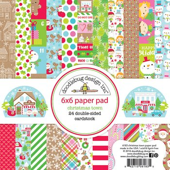 DOODLEBUG -Christmas Town 6x6 Inch Paper Pad