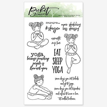 PICKET FENCE STUDIOS -Eat Sleep Yoga