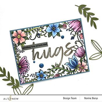 ALTENEW -Whimsical Flowers & Quotes Stamp Set