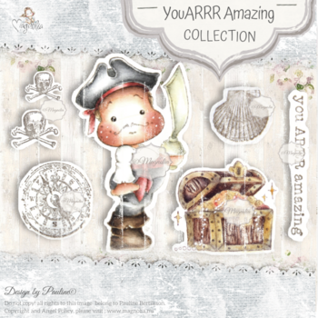 MAGNOLIA OUT-20 You Arrr Amazing Art Stamp Sheet