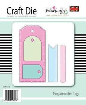 Polkadoodles - Basics - Tags dies