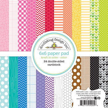 Doodlebug Design-Kraft in Color 6x6 Inch Paper Pad