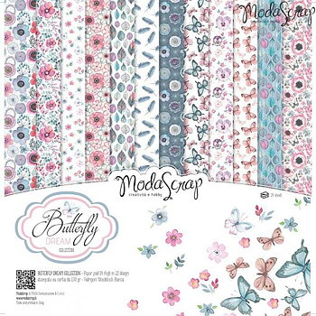 MODASCRAP - PAPER PACK BUTTERFLY DREAM 12X12""