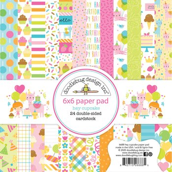 Doodlebug Design -Hey Cupcake 6x6 Inch Paper Pad