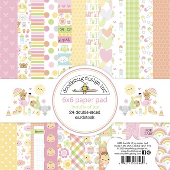 Doodlebug Design -Bundle of Joy 6x6 Inch Paper Pad