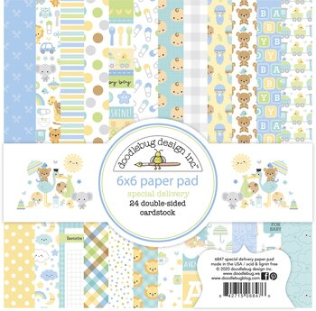 Doodlebug Design -Special Delivery 6x6 Inch Paper Pad