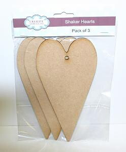 CREATIVE EXPRESSIONS- Mdf Shaker Heart pk 3
