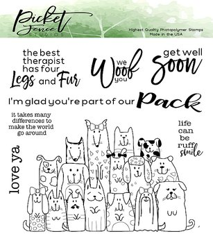 PICKET FENCE STUDIOS - Part of the Pack Clear Stamps