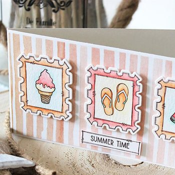 MODASCRAP CLEAR STAMPS - POSTAGE SUMMER