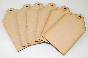 CREATIVE EXPRESSIONS-Mdf Scalloped Tags pk 6