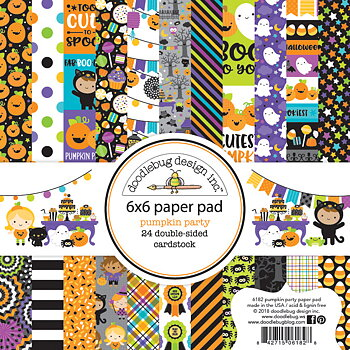 Doodlebug Design-  6x6 Inch Paper Pad-Pumpkin Party