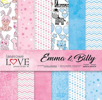 LASERLOWE -12x12 Set of papers - Emma & Billy
