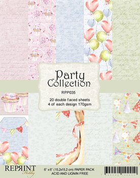 Reprint Swedish  Party collection pack  (15,2 x 15,2 cm)