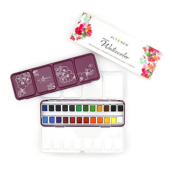 ALTENEW -Artist Watercolor 24 Pan Set