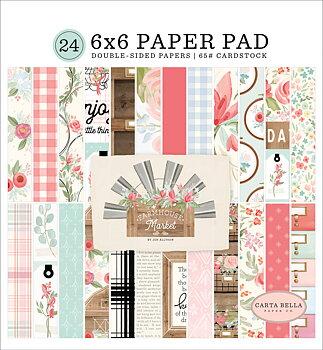 ECHO PARK PAPER-Farmhouse Market 6x6 Paper Pad Carta Bella