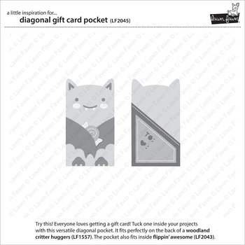 LAWN FAWN  -diagonal gift card pocket