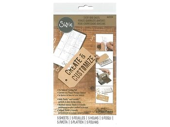 "Sizzix Accessory - Sticky Grid Sheets, 2 5/8"" x 4 5/8"", 5 Pack inspired by Tim Holtz"