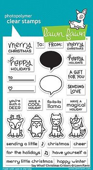 LAWN FAWN  -say what? christmas critters  STAMP & DIE SET