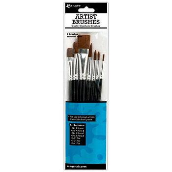 Ranger Ink - Artist Brushes - 7 Pack
