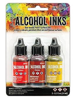 RANGER -Tim Holtz Alcohol Ink Kit -Orange/Yellow Spectrum