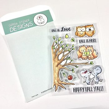 GERDA STEINER DESIGNS-Fall in Love 4x6 Clear Stamp Set