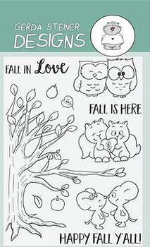 GERDA STEINERDESIGNS-Fall in Love 4x6 Clear Stamp Set