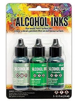 RANGER -Tim Holtz Alcohol Ink Kit -Mint/Green Spectrum