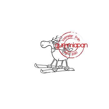 GUMMIAPAN -Skidåkarren stamp & die set