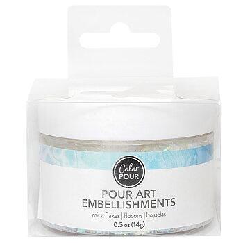 American Crafts - Color Pour Collection - Pour Art Embellishments - Mica Flakes