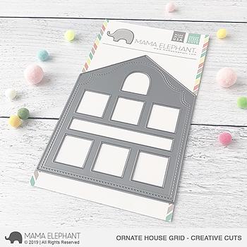 MAMA ELEPHANT-ORNATE HOUSE GRID - CREATIVE CUTS