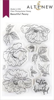 ALTENEW -Beautiful Peony Stamp Set