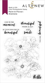 ALTENEW -Paint-A-Flower: Anemone Outline Stamp Set