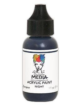RANGER Dina Wakley Media Acrylic Paint Night, 1oz