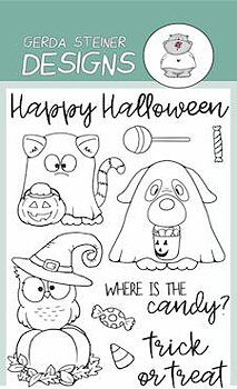 GERDA STEINERDESIGNS-Where is the Candy?   Clear Stamp  & Die Set