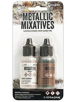 RANGER -Tim Holtz Alcohol Ink Metallic Mix Pearl & Copper