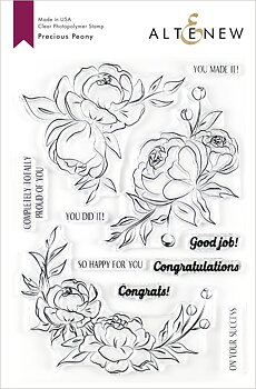 ALTENEW -Precious Peony Stamp Set