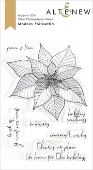 ALTENEW -Modern Poinsettia Stamp Set