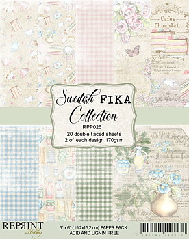 "Reprint Swedish Fika Collection Pack 6x6"" (15,2 x 15,2 cm)"