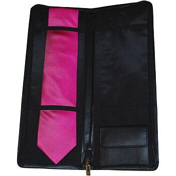 Reseetui för slips och accessoar i skinn