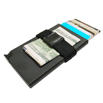 Korthållare Safecard Svart med  band