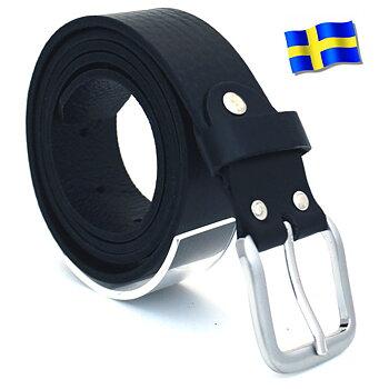 Läderbälte Bull svart 35mm 807