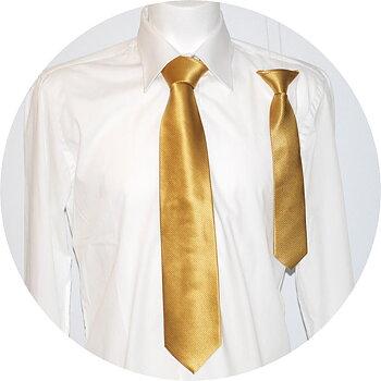 Far och son slipsar guld FS152