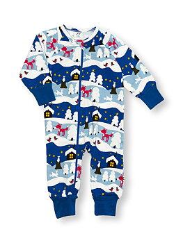 PYJAMAS MED ZIP SNOWY COTTAGE