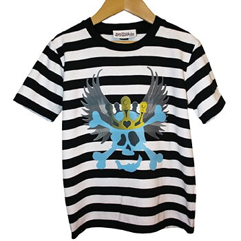 Love Frankie T-shirt Skull on Stripes