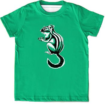 Little Lark T-shirt Chipmunk Green