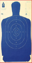 """Sihouette Target: Police Silhouette Blue 24""""x45"""" (100 pcs)"""