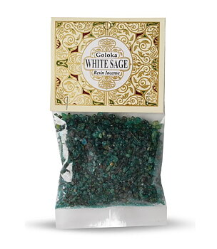 Goloka Resin Incense - White Sage, 30g