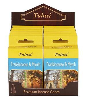 Incense Cones Tulasi - Frankincense & Myrrh