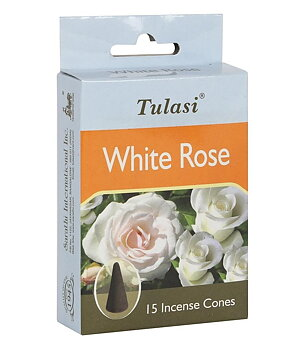 Incense Cones Tulasi - White Rose