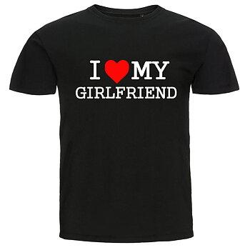 T-shirt - I Love My Girlfriend